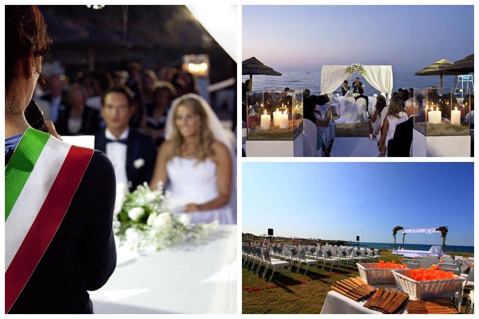 Свадьба на пляже в Апулии