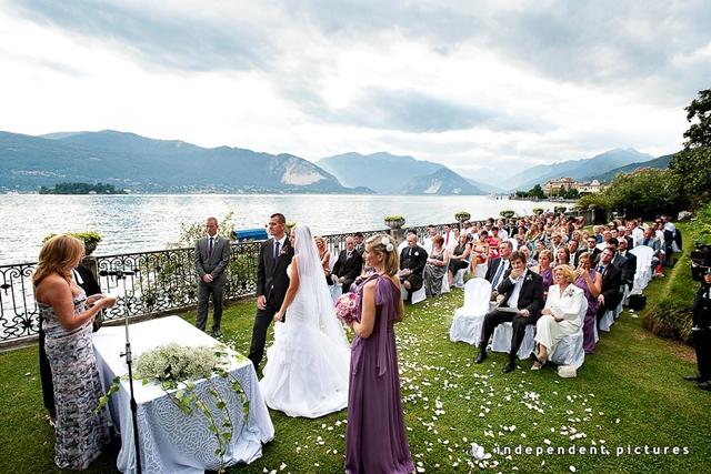 Свадебная церемония на озере Маджоре