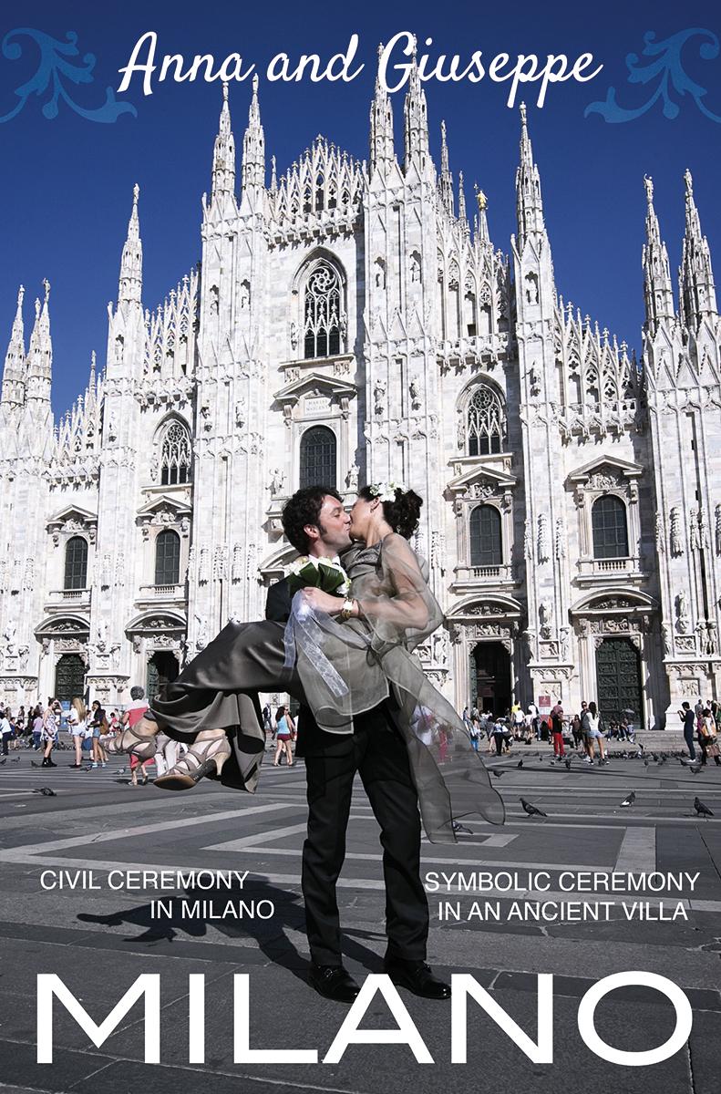 Официальная свадьба в Милане Анны и Джузеппе