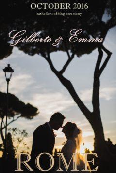 Свадьба в Риме Эммы и Джильберто