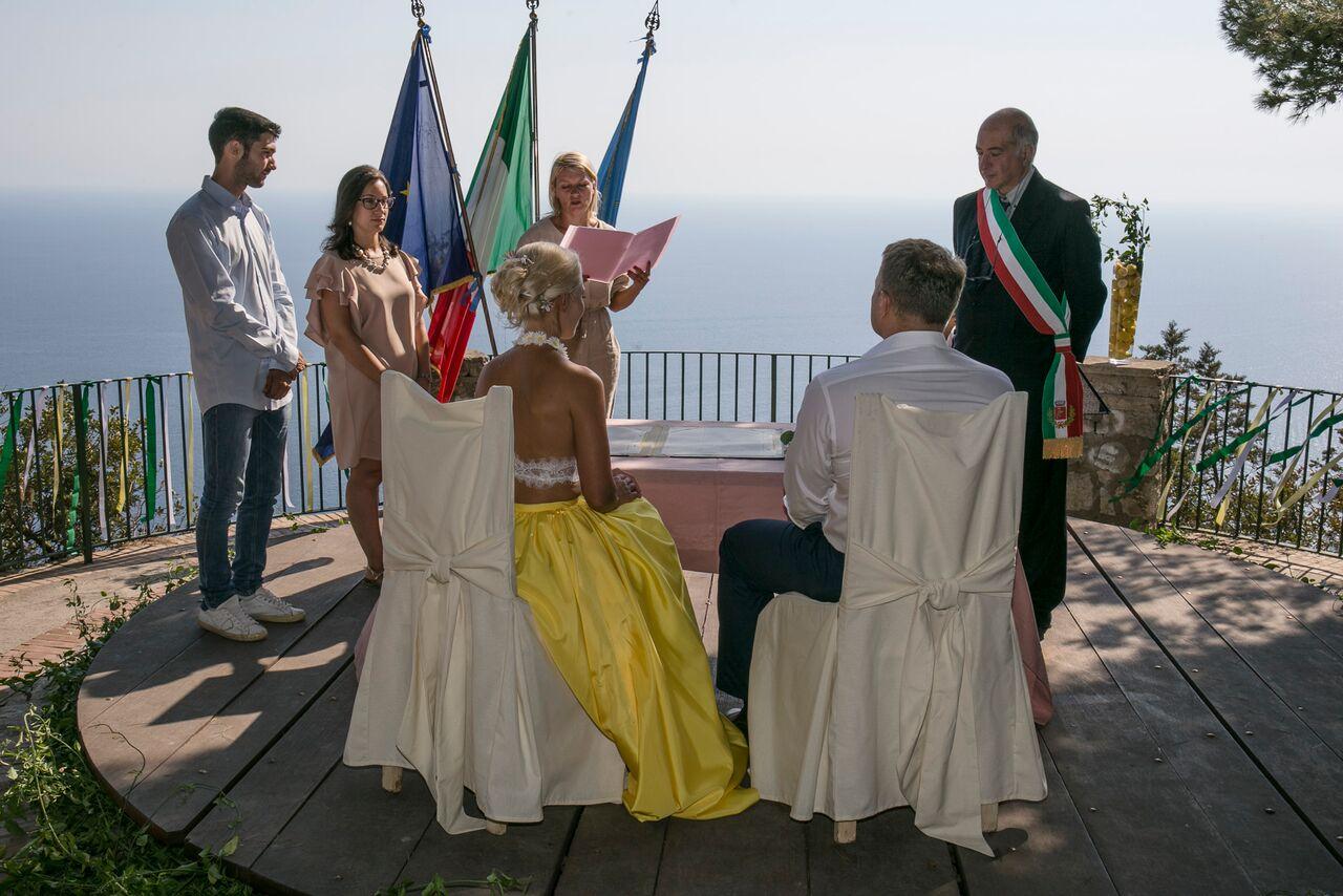Свадьба на озере Капри.www.weddings-italy.ru